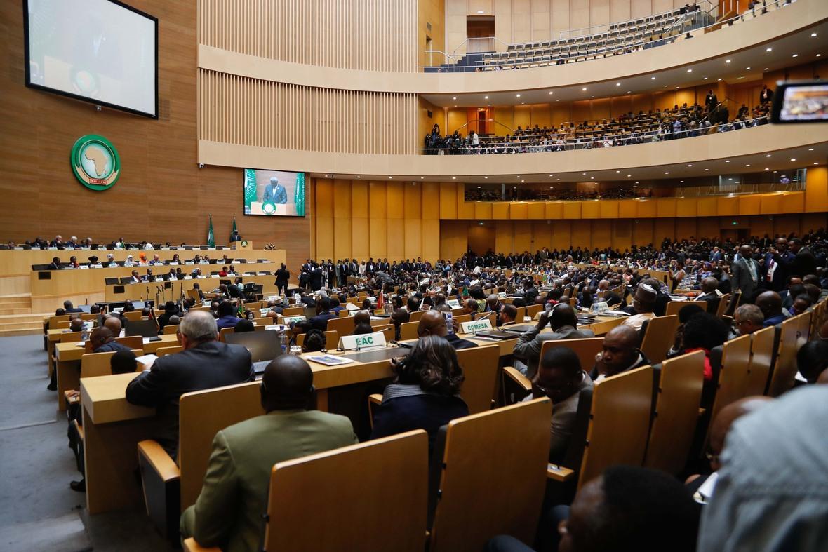 Madaxweyne Farmaajo oo ka qayb galay shirka EU ee Addis Photo Ali Dualle-1
