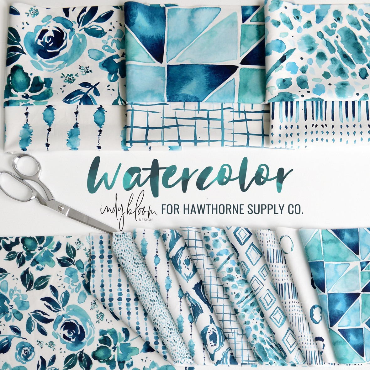 Watercolor Fabric Indy Bloom at Hawthorne Supply Co
