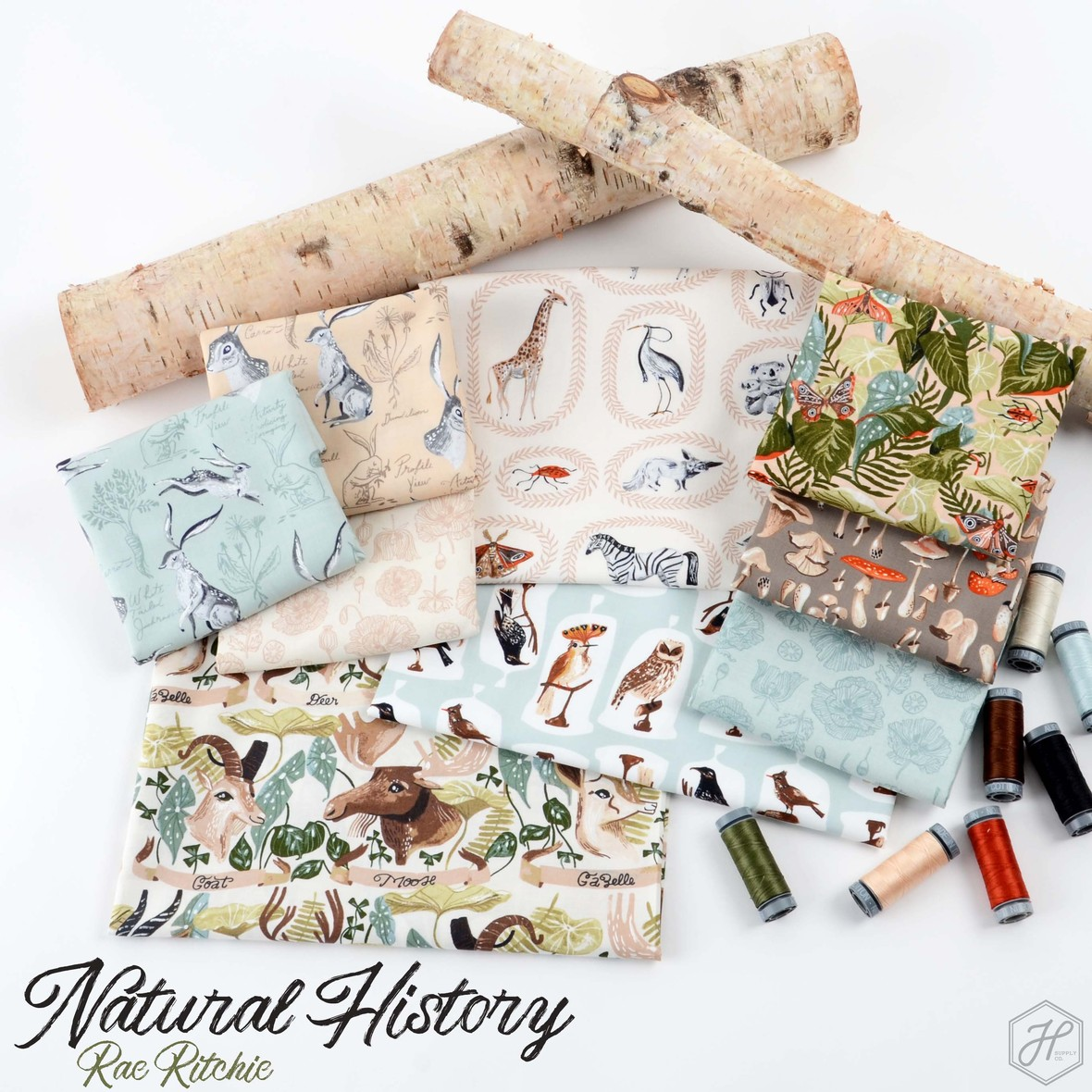 Natural History Fabric Rae Ritchie for Dear Stella