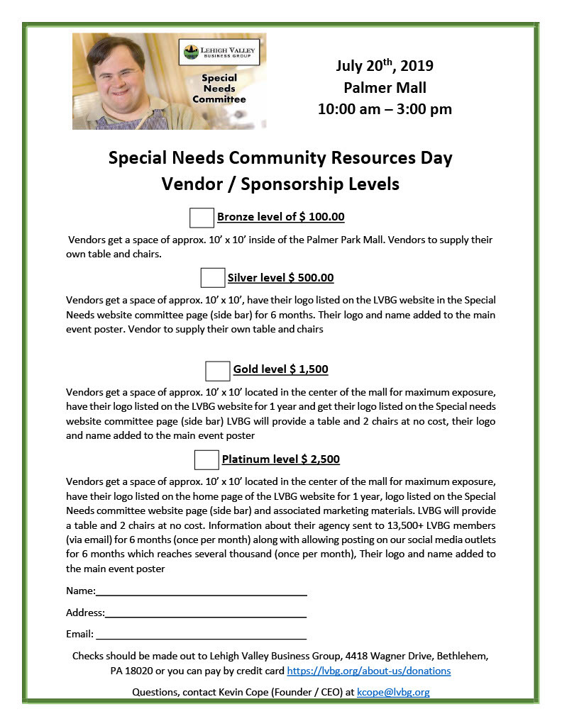 Special Needs Community Resources Day Vendor and Sponsorship1024 1