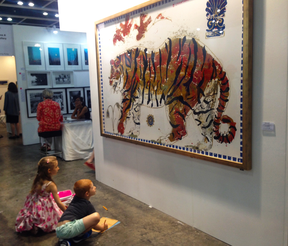 Tiger in Sunset Installed AAF Hong Kong
