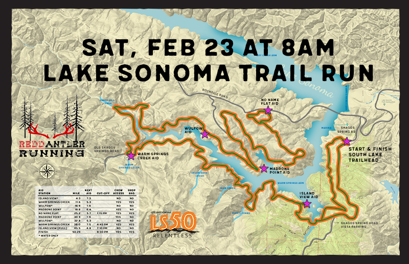 lake sonoma 50 map newsletter