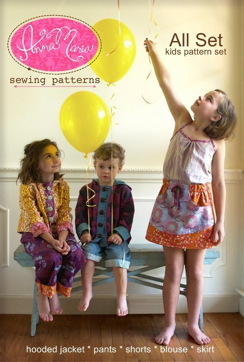 anna maria horner all set kids pattern set sewing pattern