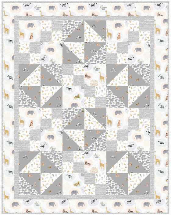dearstella- animal crackers free quilt pattern