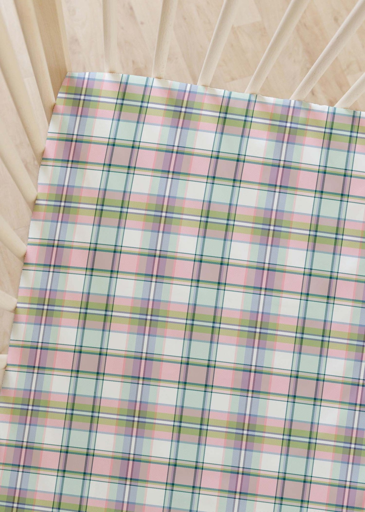 crib sheet bunting plaid