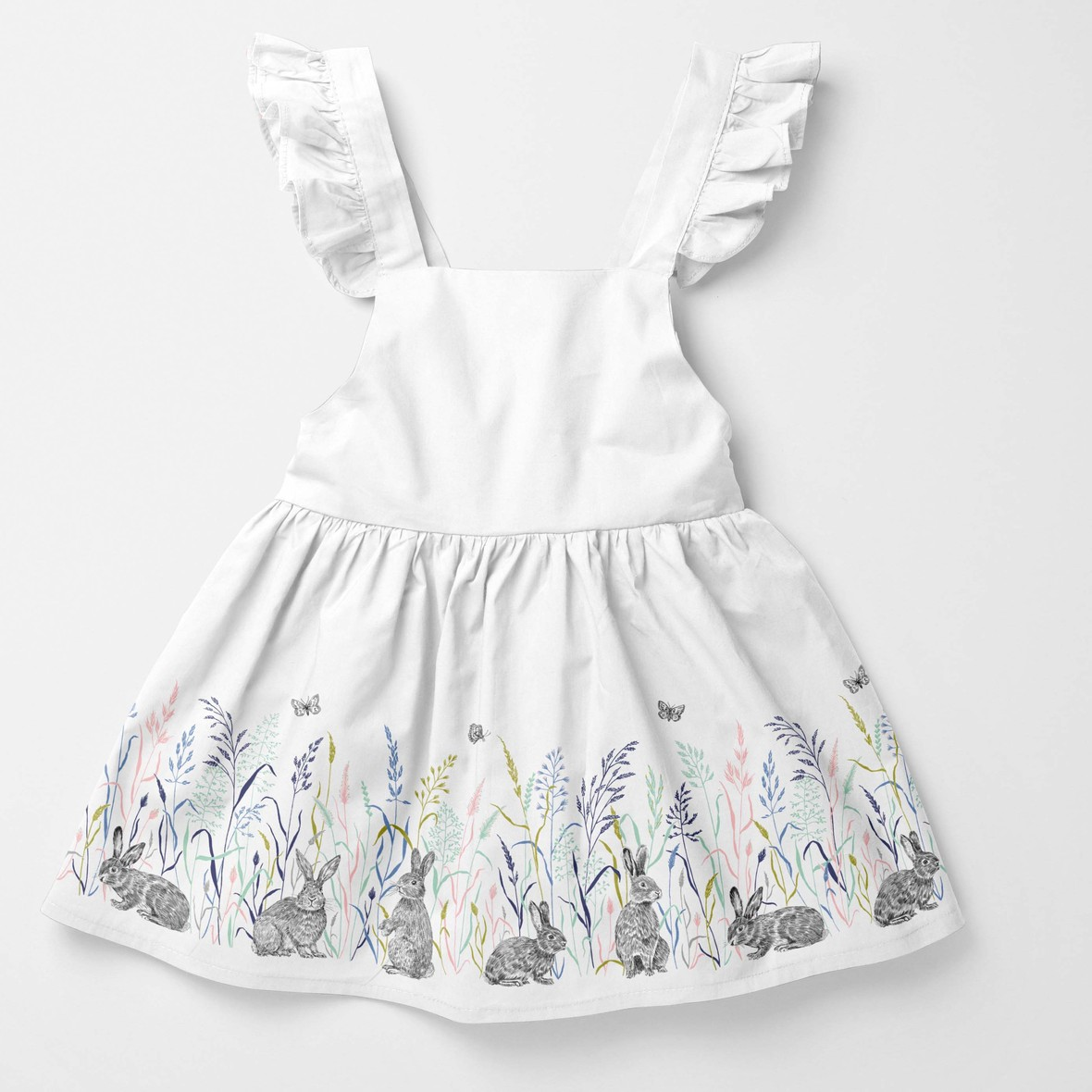 baby dress hoppy trails spring meadow