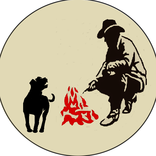 man dog logo