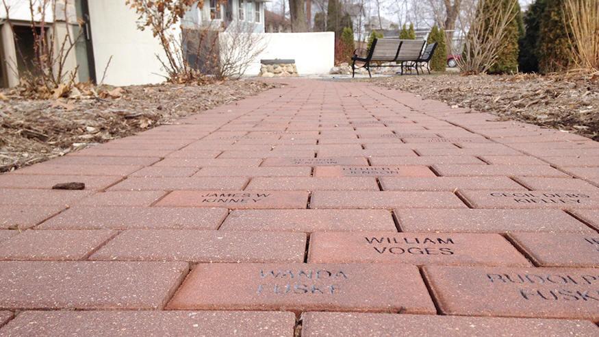 Memorial Garden-brick path1