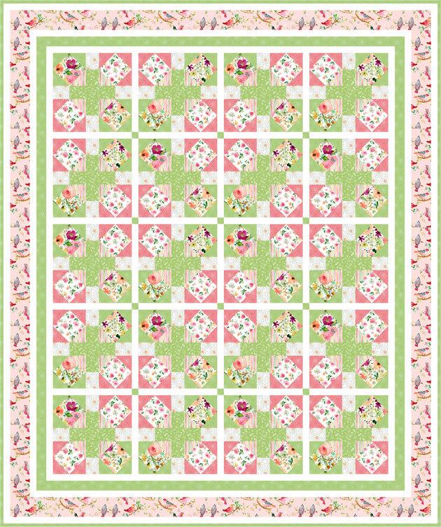 DS Web-Songbird free quilt pattern