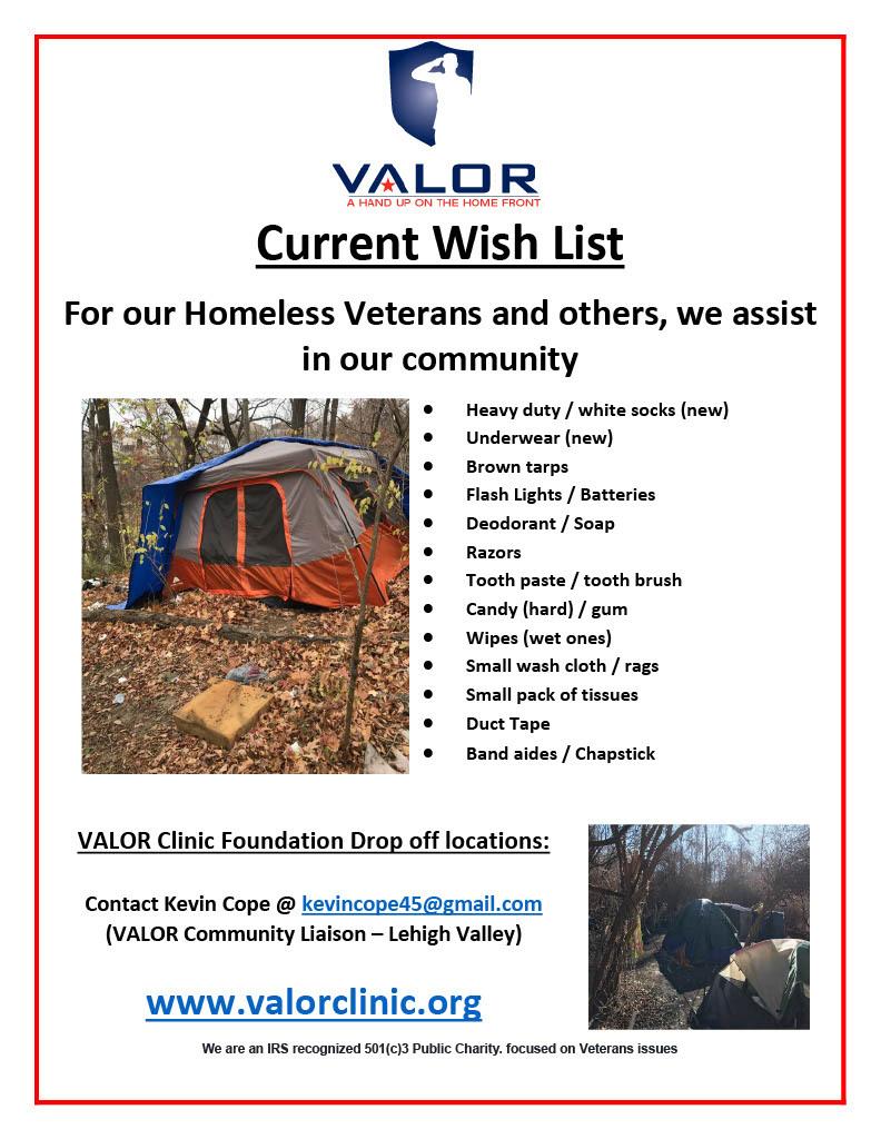 Wish List items - Homeless Kits for Valor 1024 1