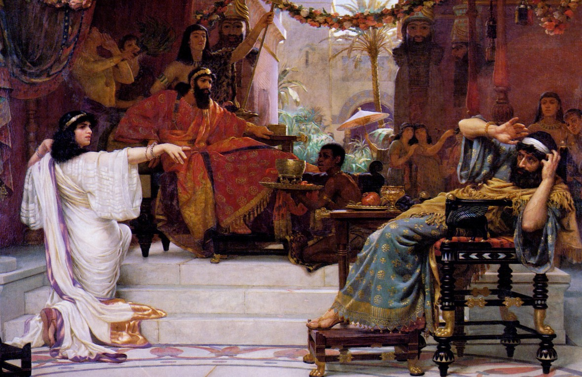 Esther Denouncing Haman by Ernest Normand