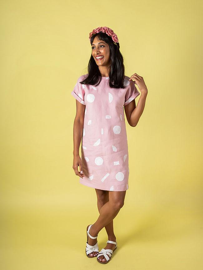 Stevie pink tunic dress 1