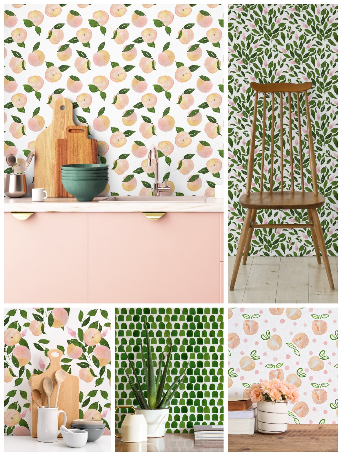 Shopcabin Just Peachy Peel and Stick Wallpaper Hawthorne Supply Co