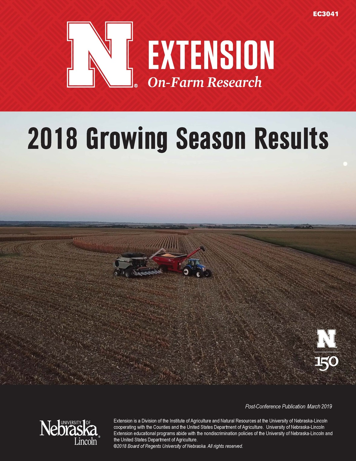 2018GrowingSeasonResults postconference EC3041 FrontCover