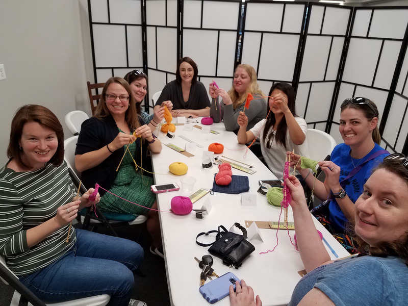 beginning knitting group