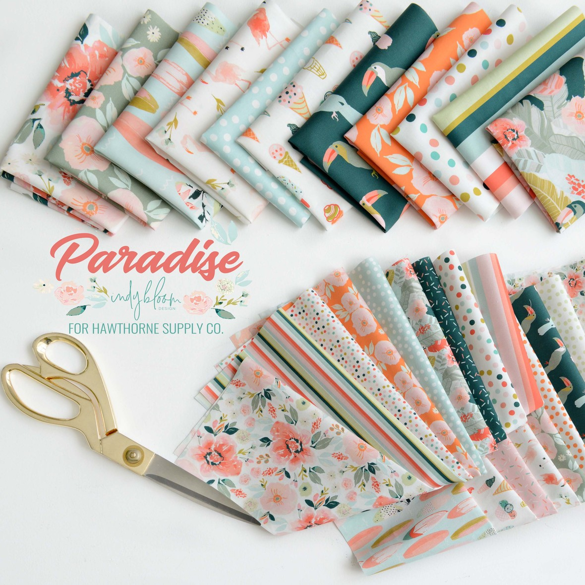 Paradise Fabric Poster Indy Bloom for Hawthorne Supply Co