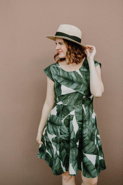 sweet summer time dress- sew to grow