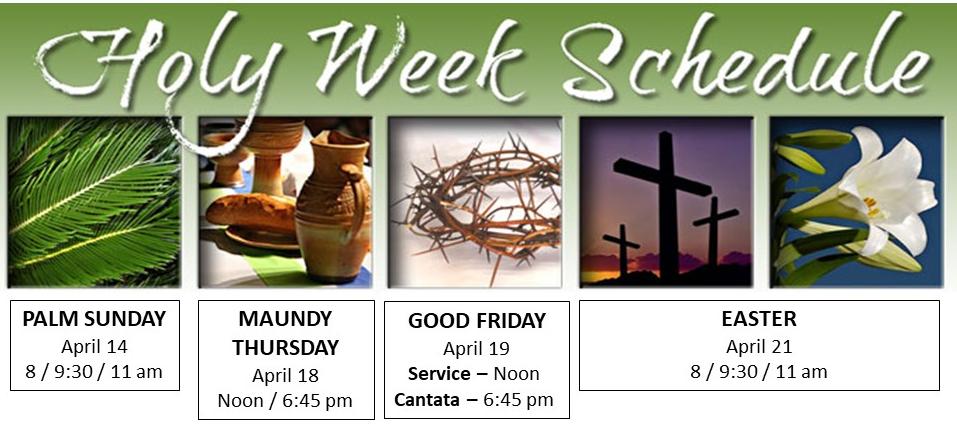 Holy Week standard