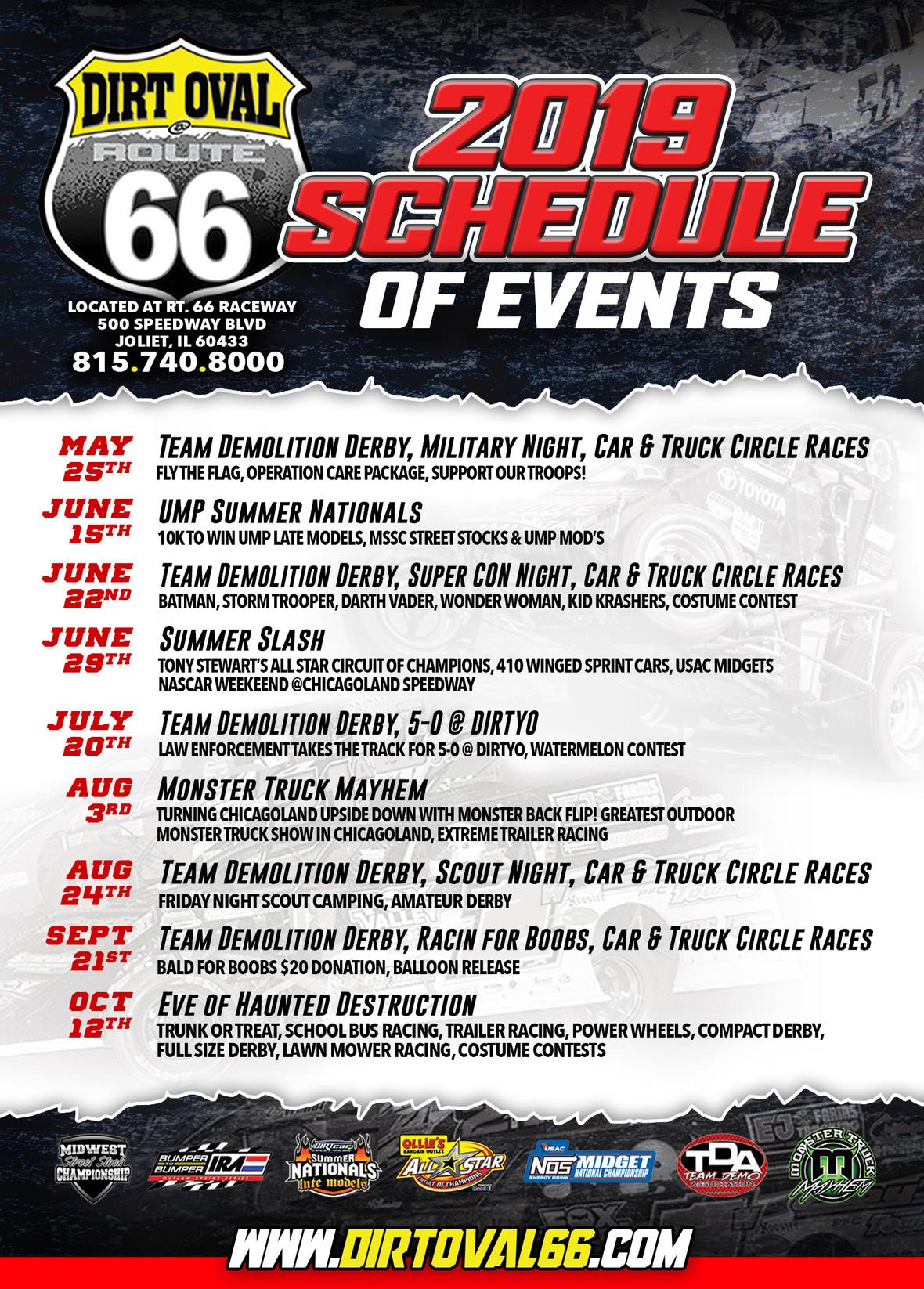 66 2019 schedule