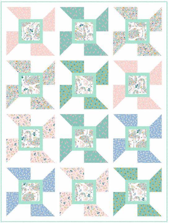 Tropical spin quilt pattern - louannamaryquiltdesign.bigcartel.com