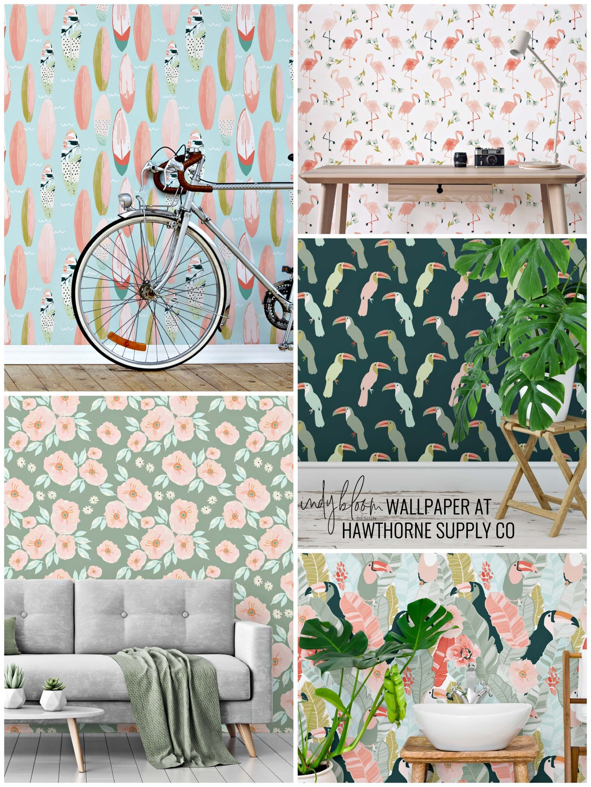 Indy Bloom Paradise Removable Peel and Stick Wallpaper at Hawthorne Supply Co