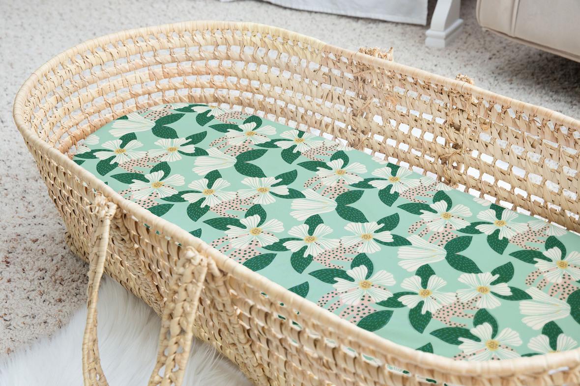 Hibiscus in Green Mist Basket 1