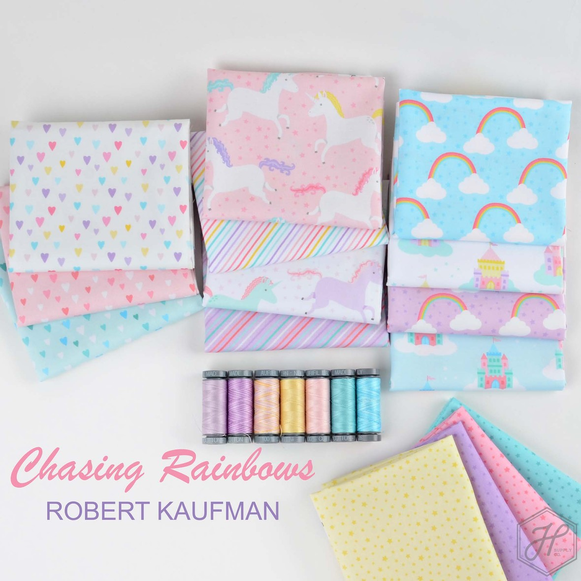 Chasing Rainbows Fabric Poster Robert Kaufman at Hawthorne Supply Co