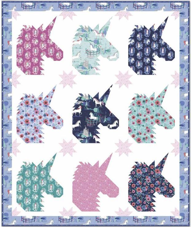 team unicorn patternby Kelli Fannin-purchase on riley blake website