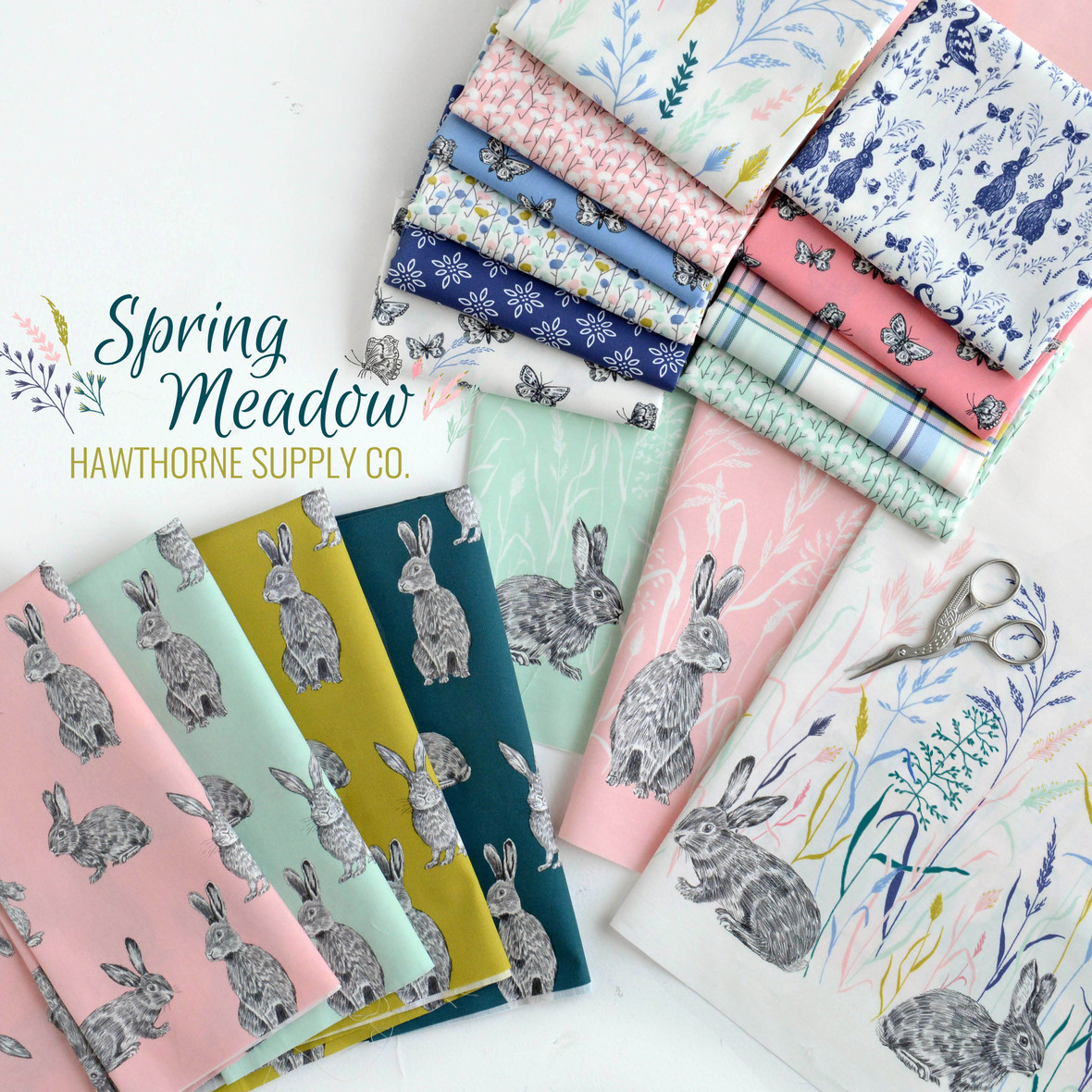 Spring Meadow Fabric Poster Hawthorne Supply Co edit JPG
