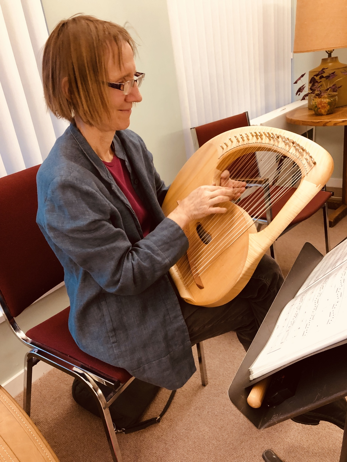 Ruth playing lyre