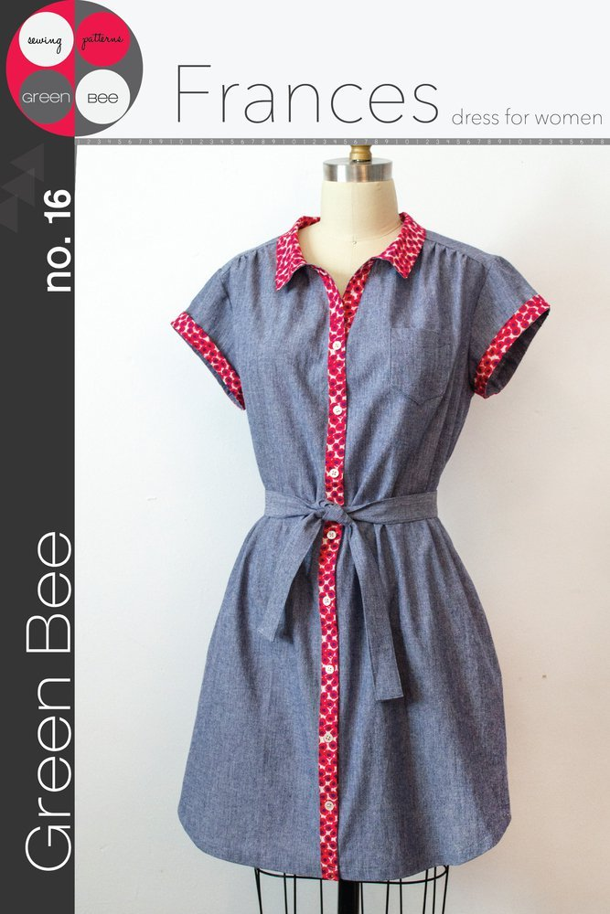 green bee design frances dress for women sewing pattern