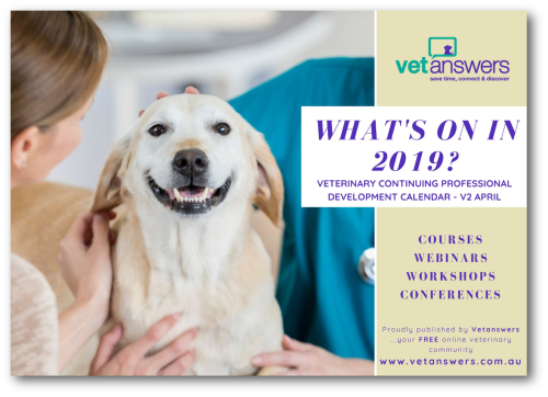 What s on in 2019 Veterinary CPD Calendar v2 April Cover red