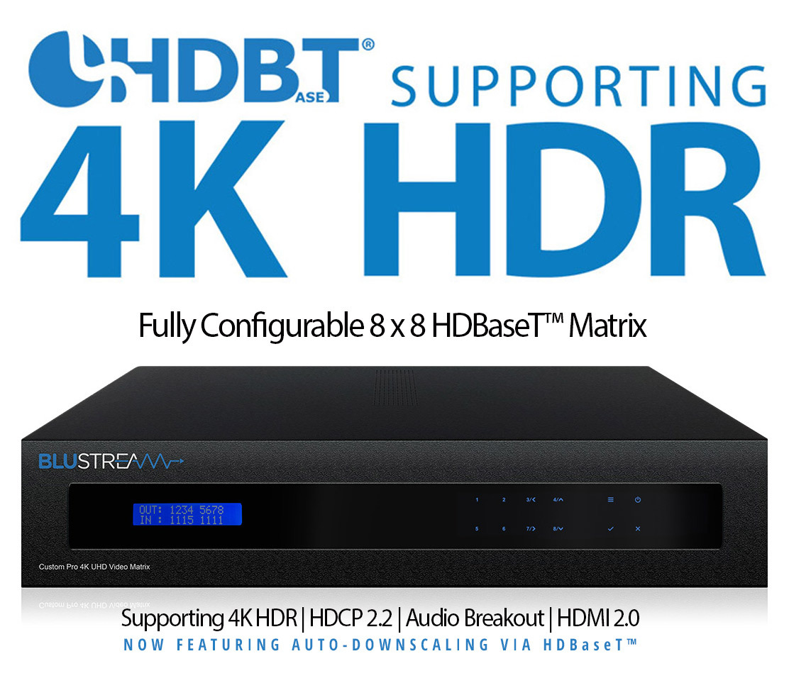 CustomPRO TouchPanel HDBaseT Supporting 4K HDR 2