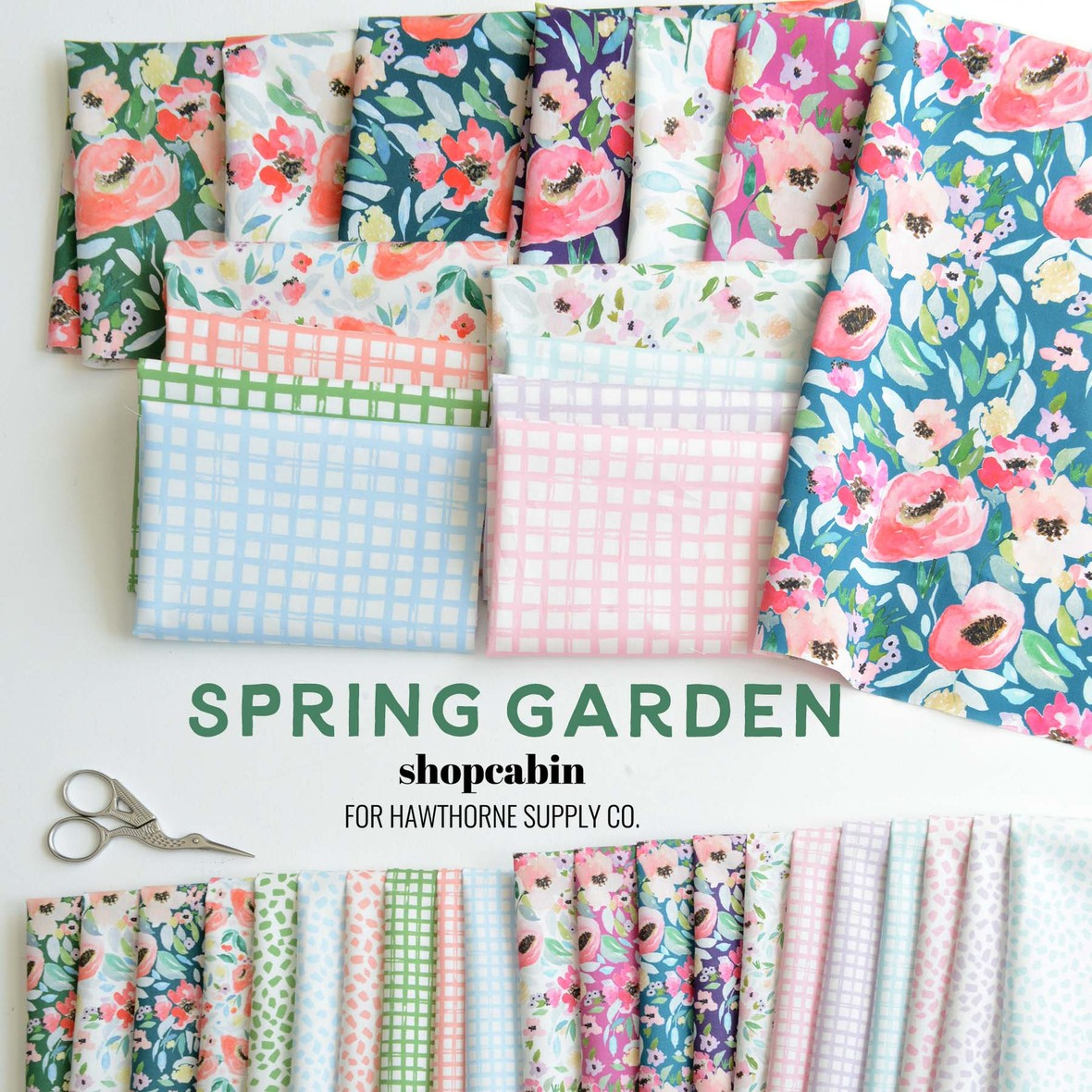 Spring Garden Fabric Poster Shopcabin at Hawthorne Supply Co.