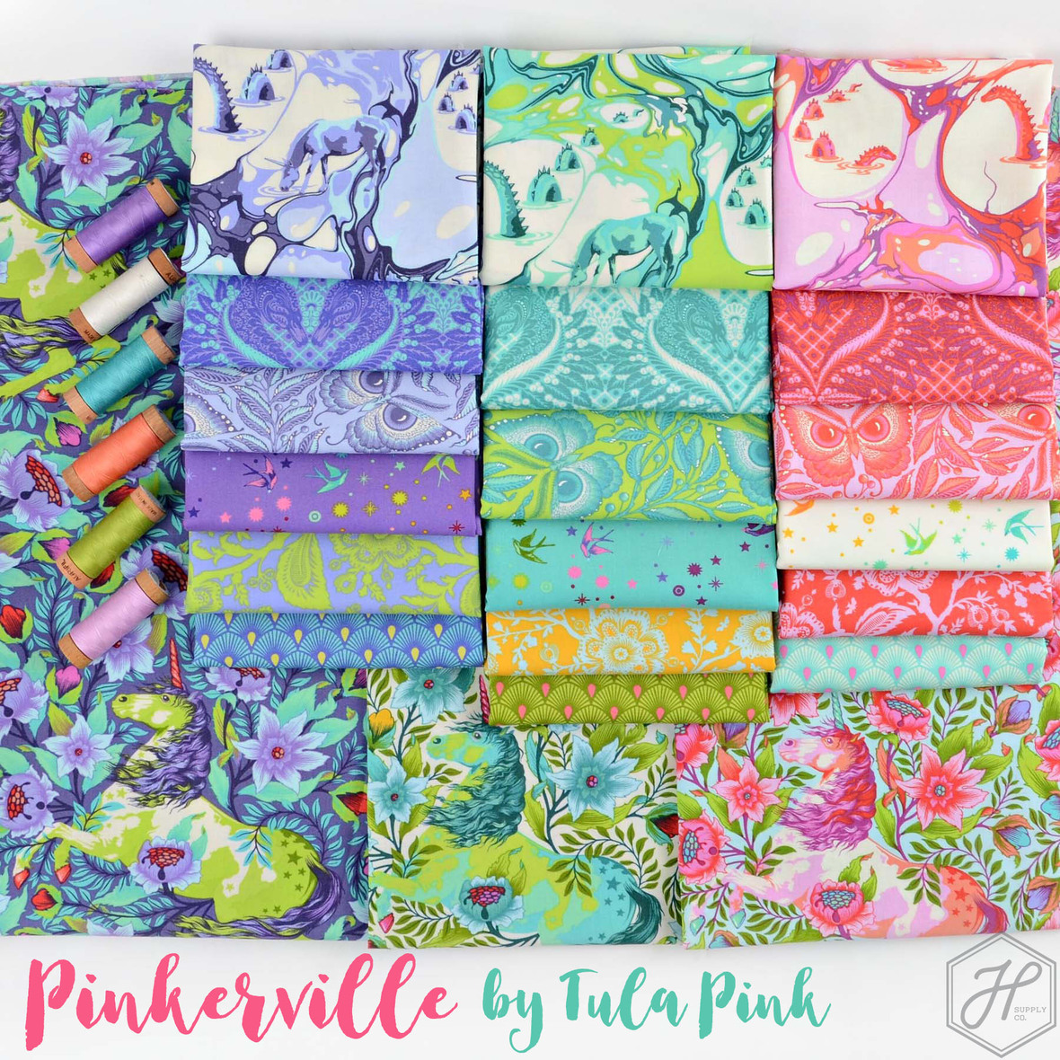 Pinkerville Fabric Poster Tula Pink at Hawthorne Supply Co 1