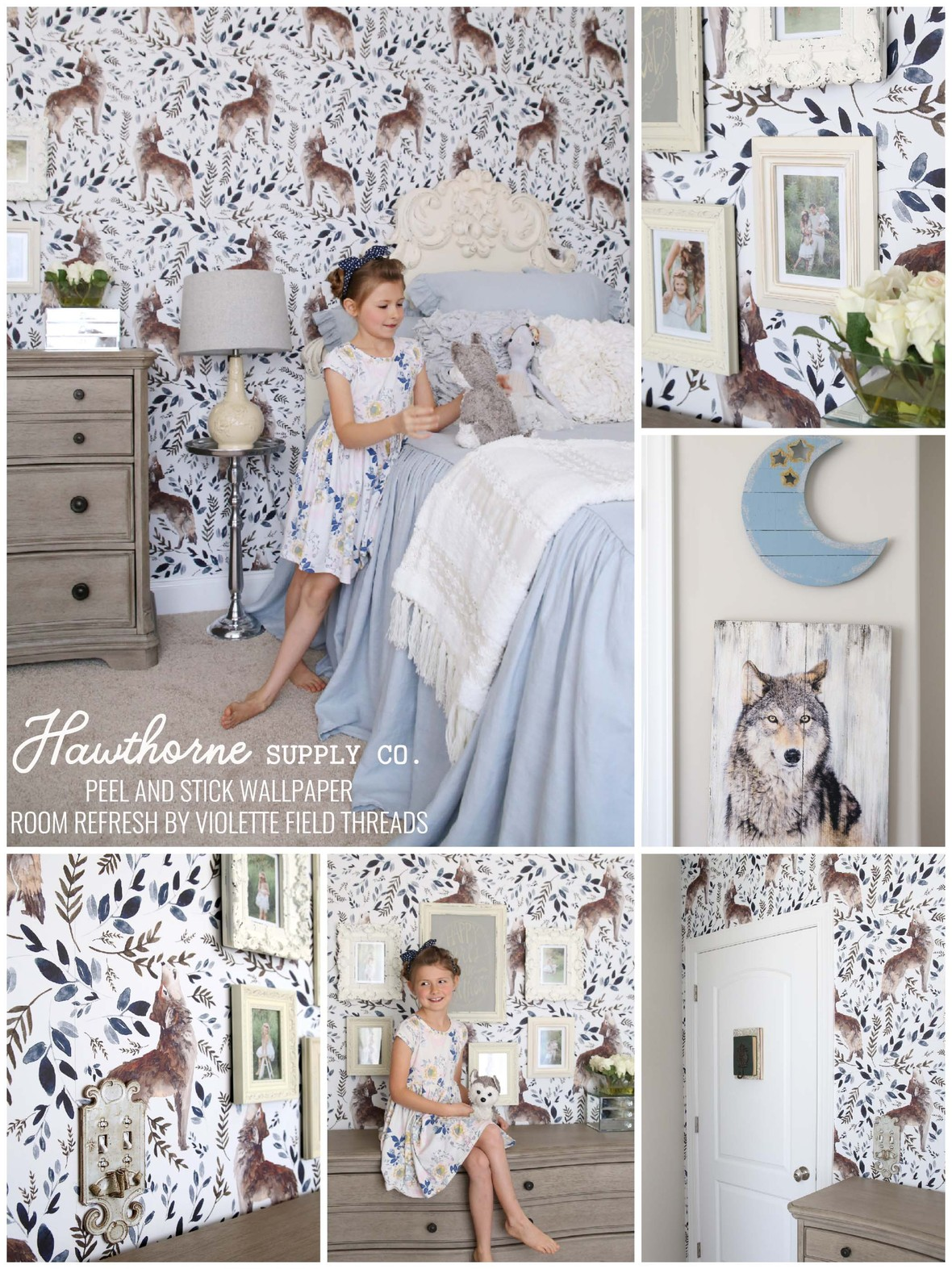 Howl at the Moon Wallpaper Shopcabin at Hawthorne Supply Co