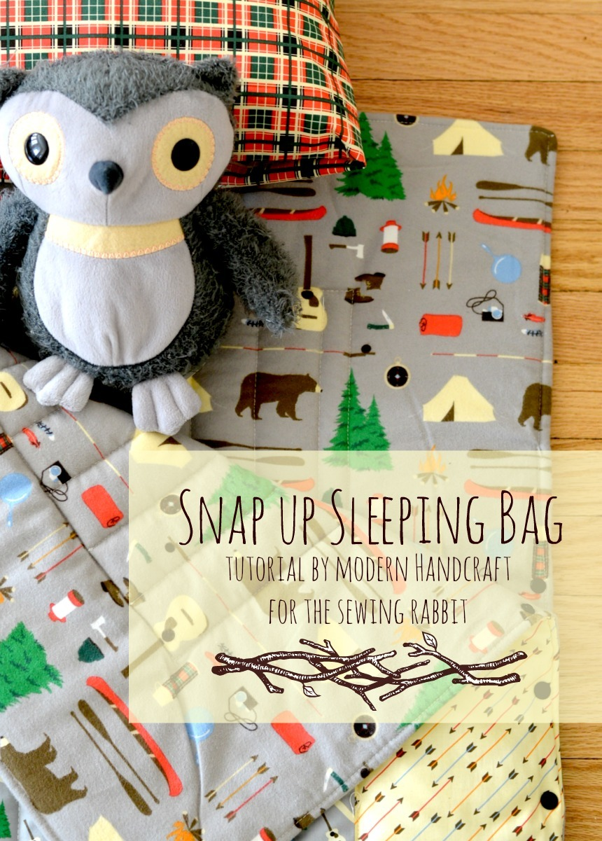 sleeping bag tutorial by modern handcraft for the sewing rabbit