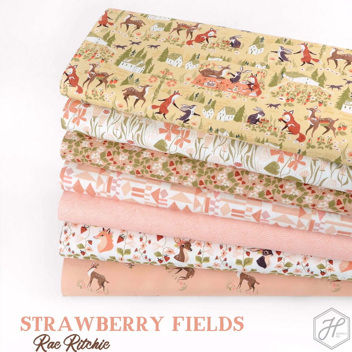 Strawberry Fields Fabric Poster