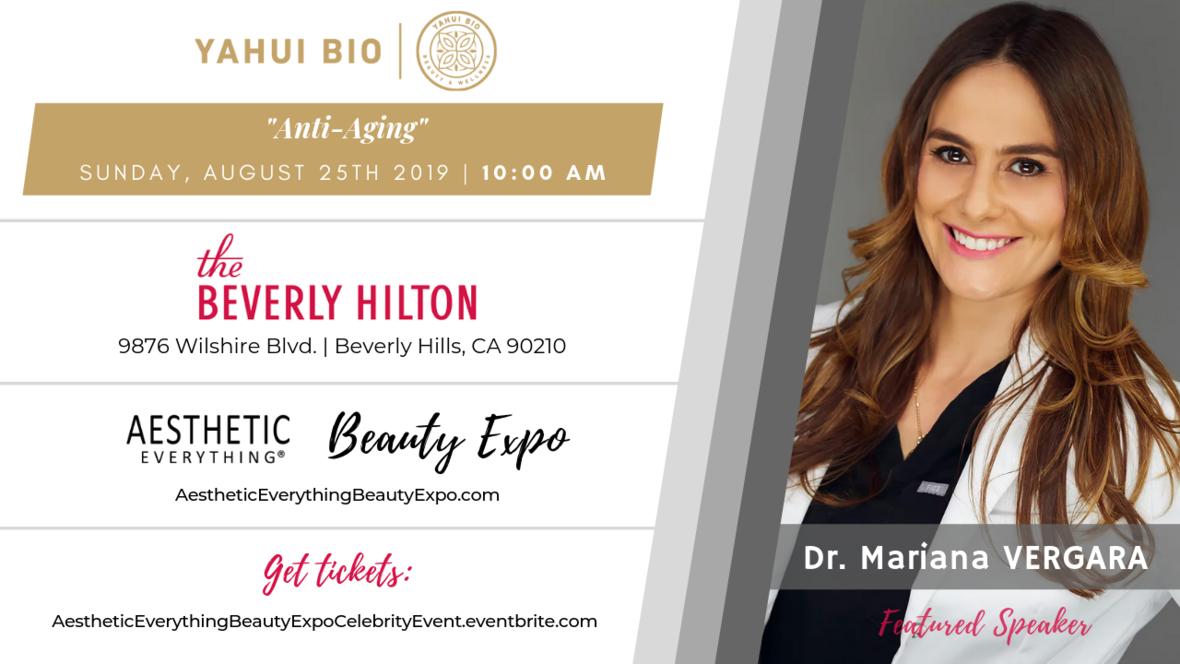 Dr. Mariana Vergara - Beauty Expo speaker design