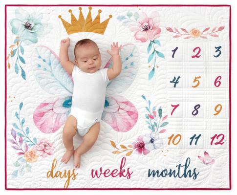 RK free pattern Baby Milestone Butterfly Quilt Pattern