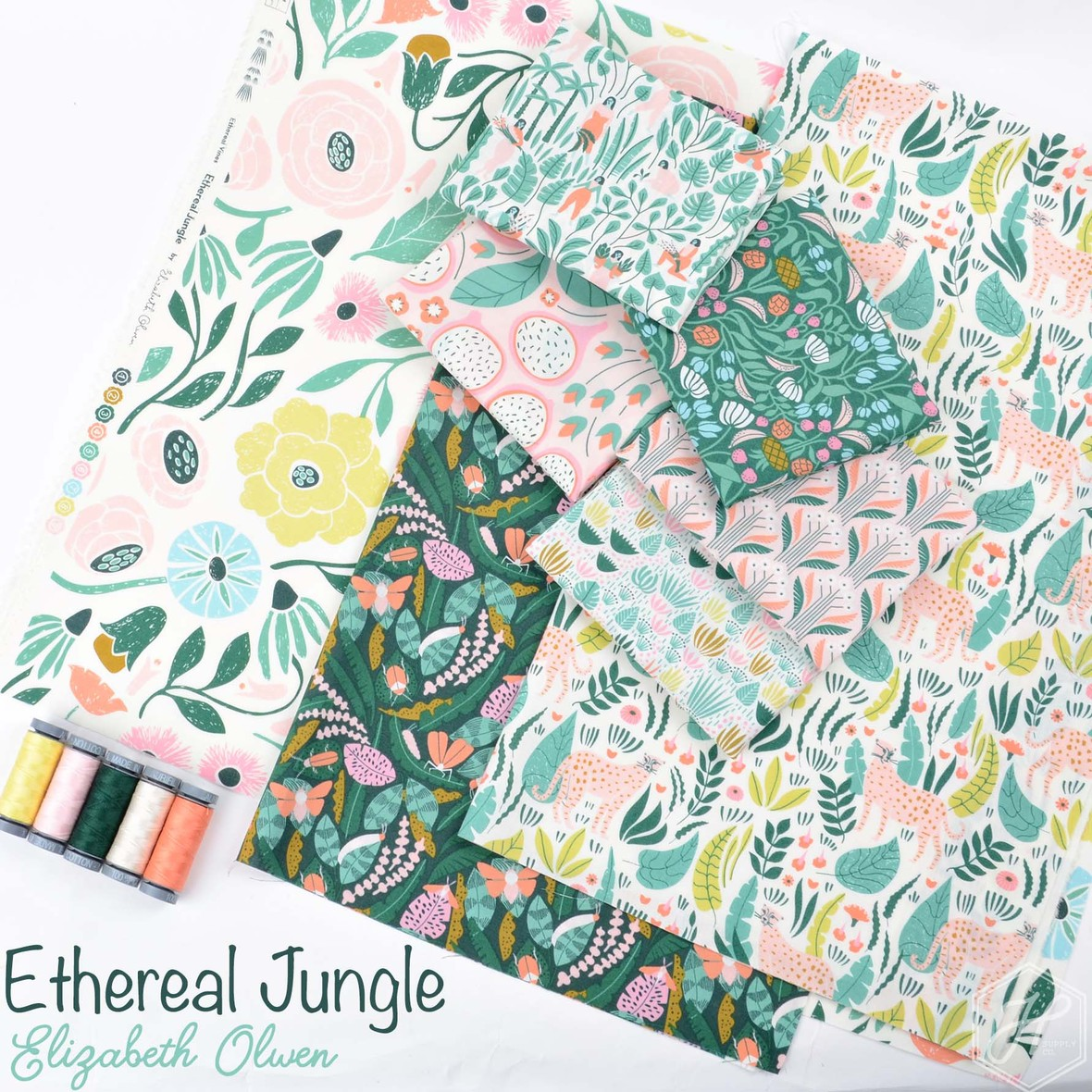 Ethereal Jungle Fabric Poster Elizabeth Olwen at Hawthorne Supply Co