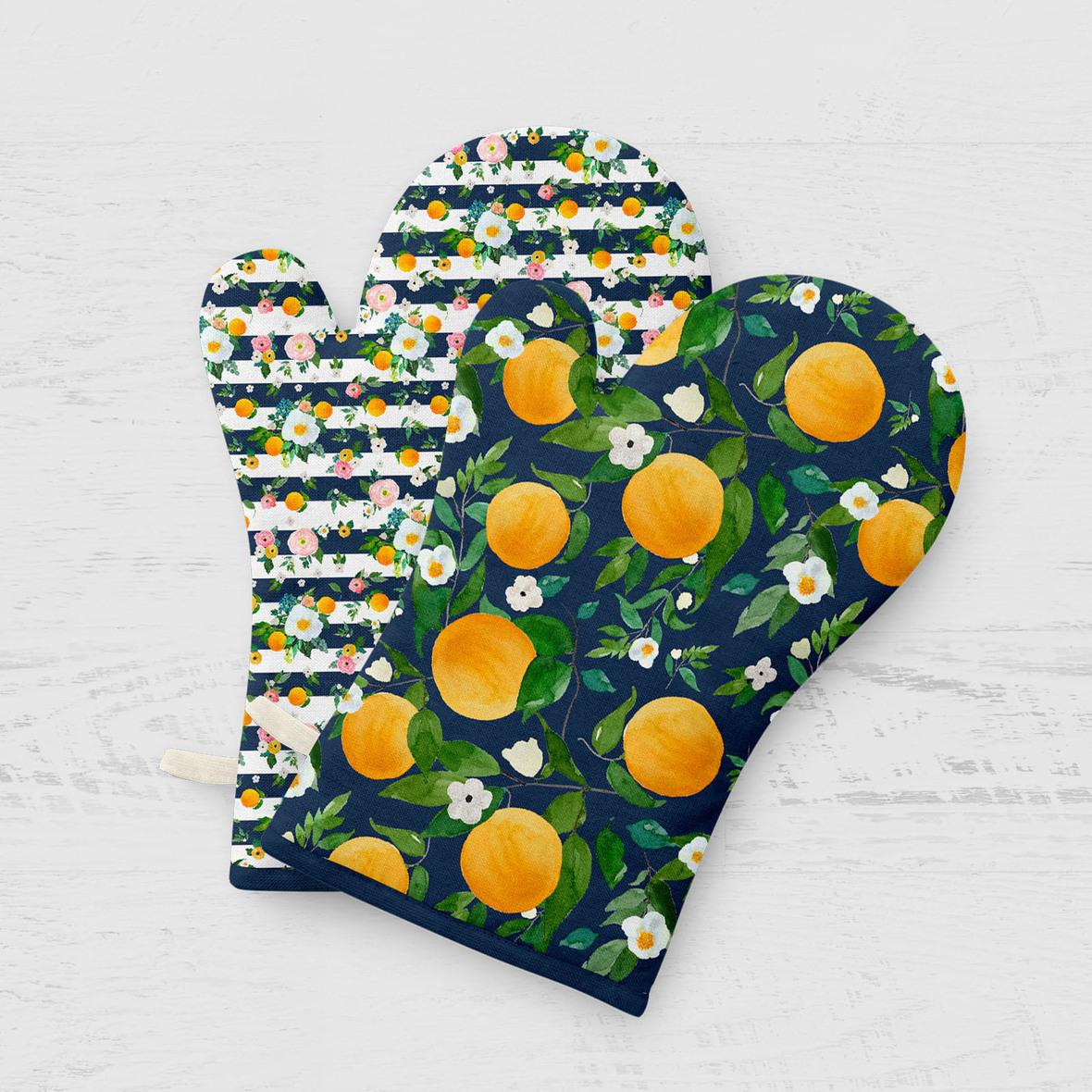 Oven Mitt oranges