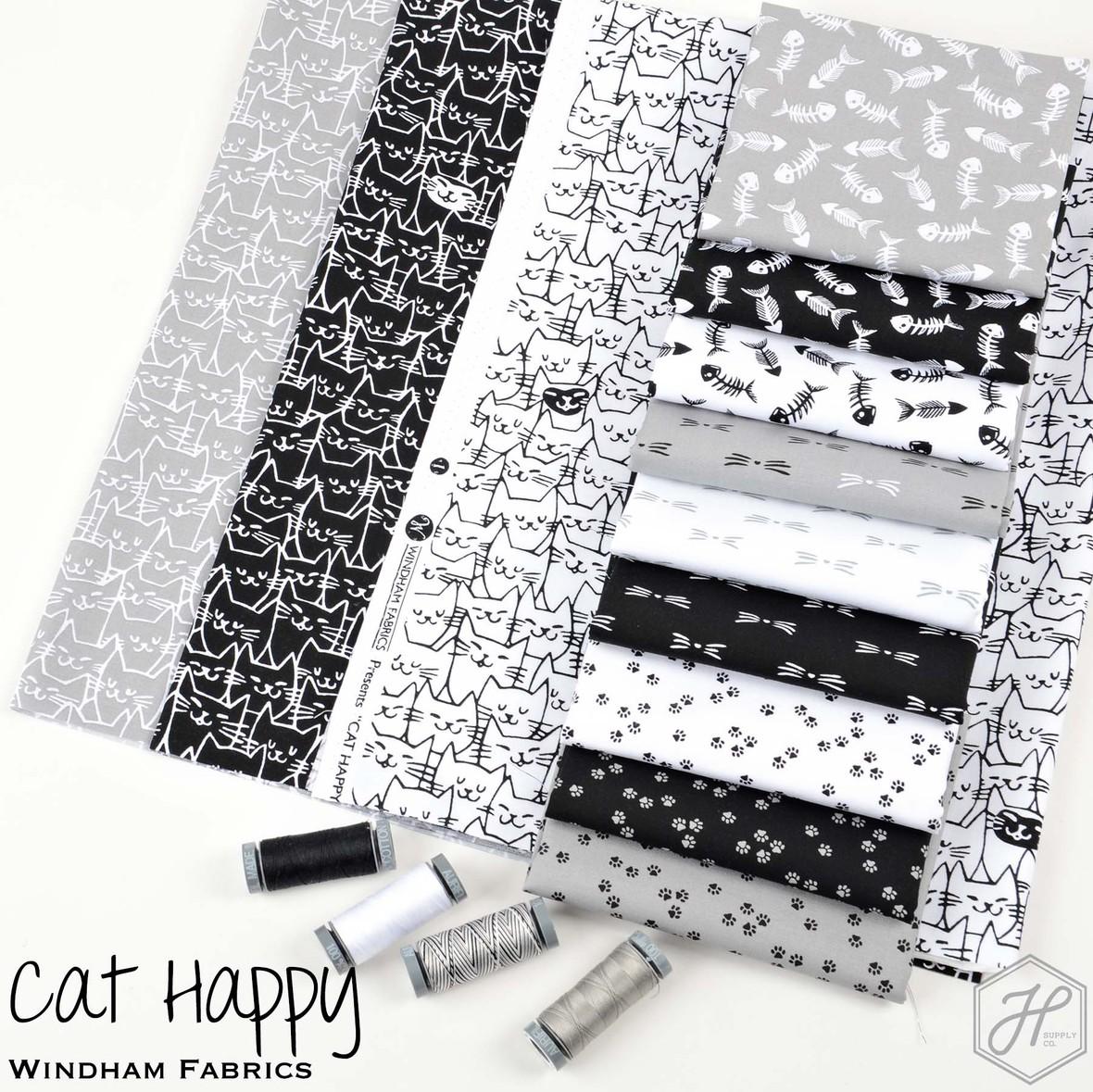 Cat Happy Fabric Poster