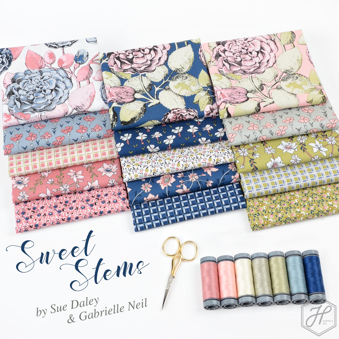 Sweet Stems Sue Daley fabric collection at Hawthorne Supply Co