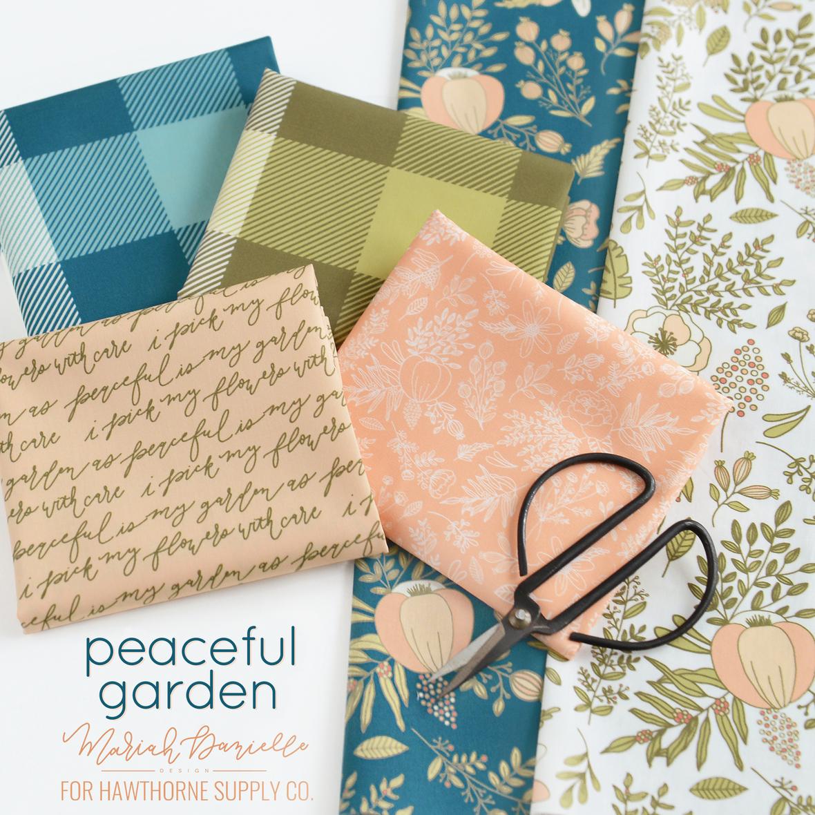 Mariah Danielle Peaceful Garden fabric for Hawthorne Supply Co 2.2