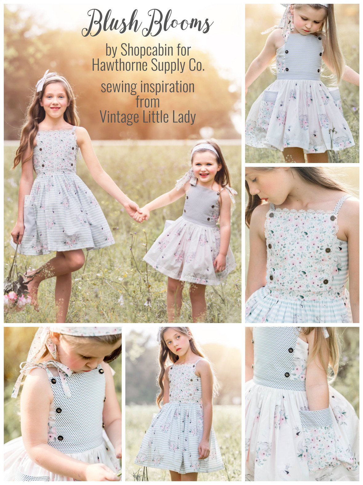 Shopcabin for Hawthorne Supply Co Blush Blooms Bristol Dress by Leah Pitkin
