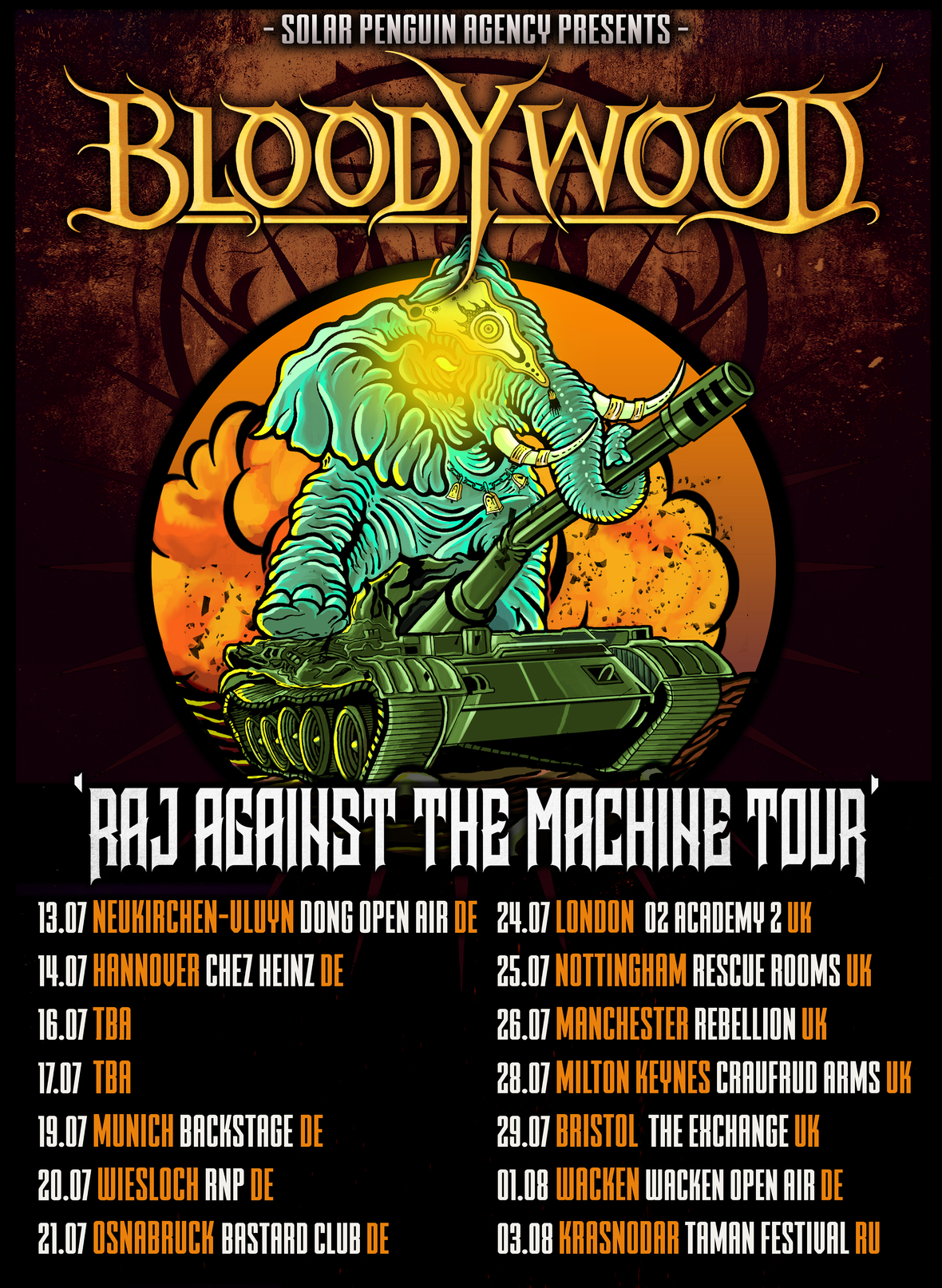 Bloodywood Tour Poster