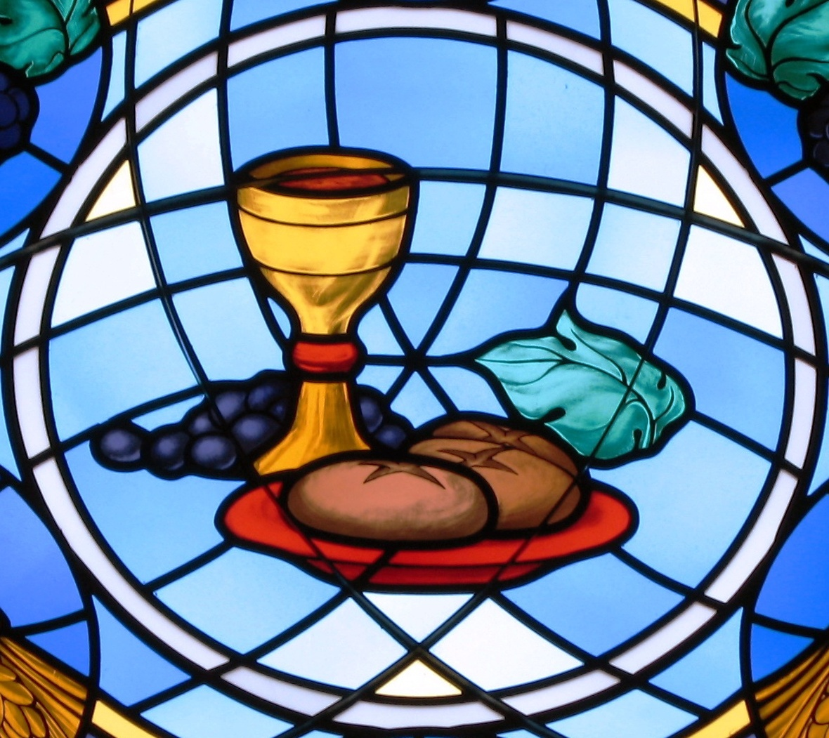 St Michael the Archangel Findlay OH - bread and wine crop 1
