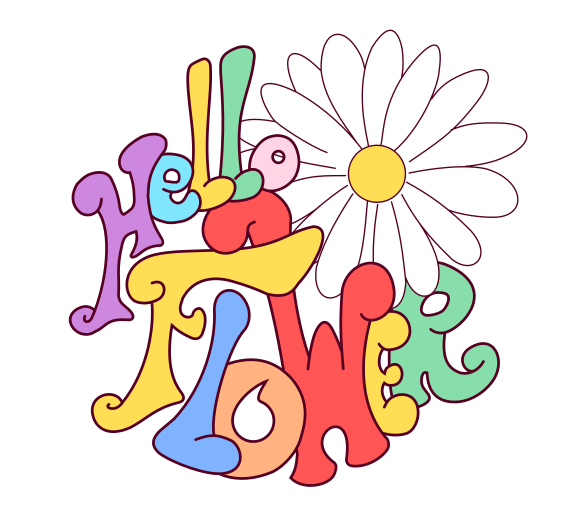 Hello Flower logo COULEUR