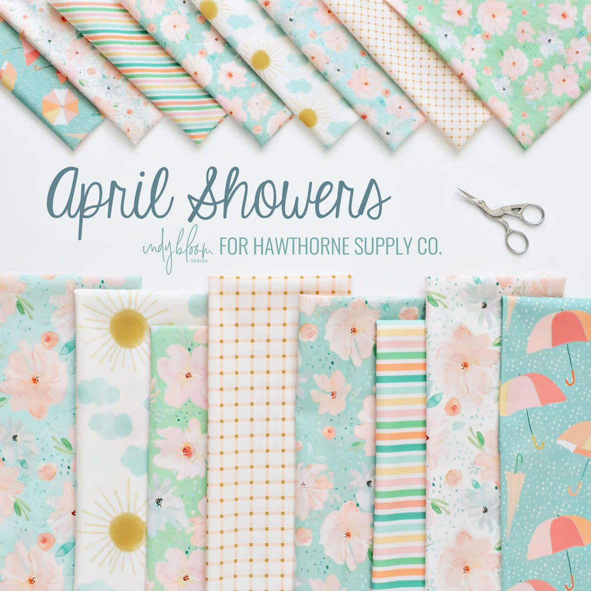 Indy Bloom April Showers Fabric for Hawthorne Supply Co 1